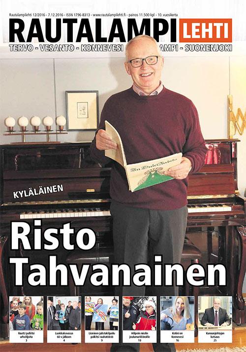 Rautalampilehti 12/2016 -kansi§